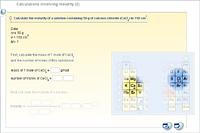 Calculations involving molarity (2)