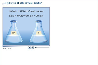 hydrolysis of salt Explains salt hydrolysis and describes salt hydrolysis reactions the chloride ion produced is incapable of hydrolyzing because it is the conjugate base of the strong acid hcl.