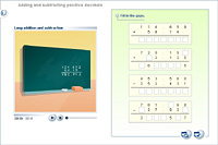 Adding and subtracting positive decimals