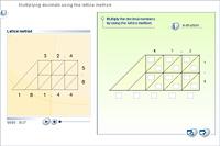 Multiplying decimals using the lattice method
