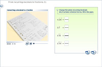 From recurring decimals to fractions (1)