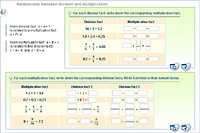 Relationship between division and multiplication