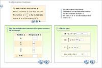 Multiplicative inverses