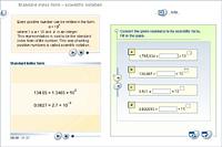 Standard index form – scientific notation