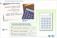 Scientific notation on the calculator