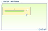 Raising 10 to a negative integer
