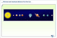 Minimum and maximum distance from the Sun