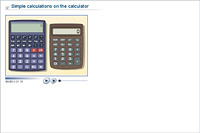 Simple calculations on the calculator