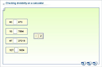 Checking divisibility on a calculator