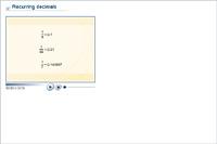 Recurring decimals
