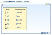 Converting fractions to decimals on a calculator