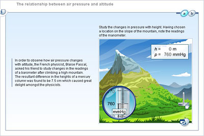 relationship of air pressure and altitude