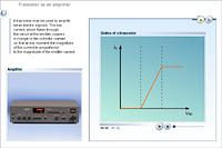 Transistor as an amplifier