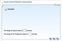 Harry's and the Professor's measurements