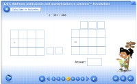 1.07. Additiona subtraction and multiplication in columns